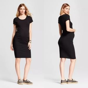 Isabel Maternity by Ingrid & Isabel Dresses - Isabel Maternity Black Fitted Short Sleeve Dress